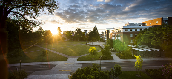OSU-Corvallis Valley Library at sunrise
