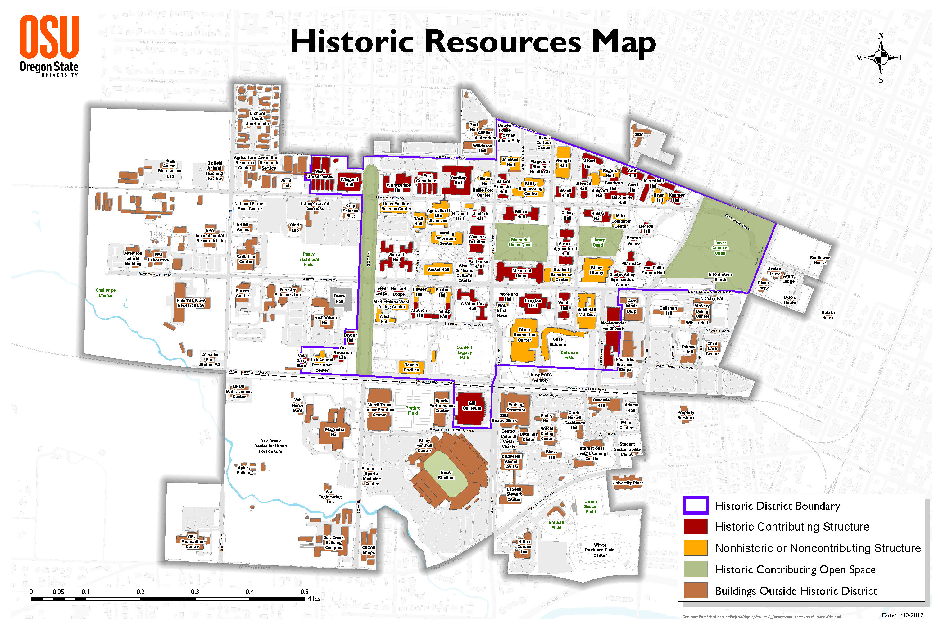 OSU National Historic District Map