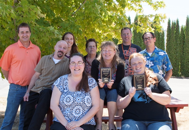 Printing & Mailing Team with Awards