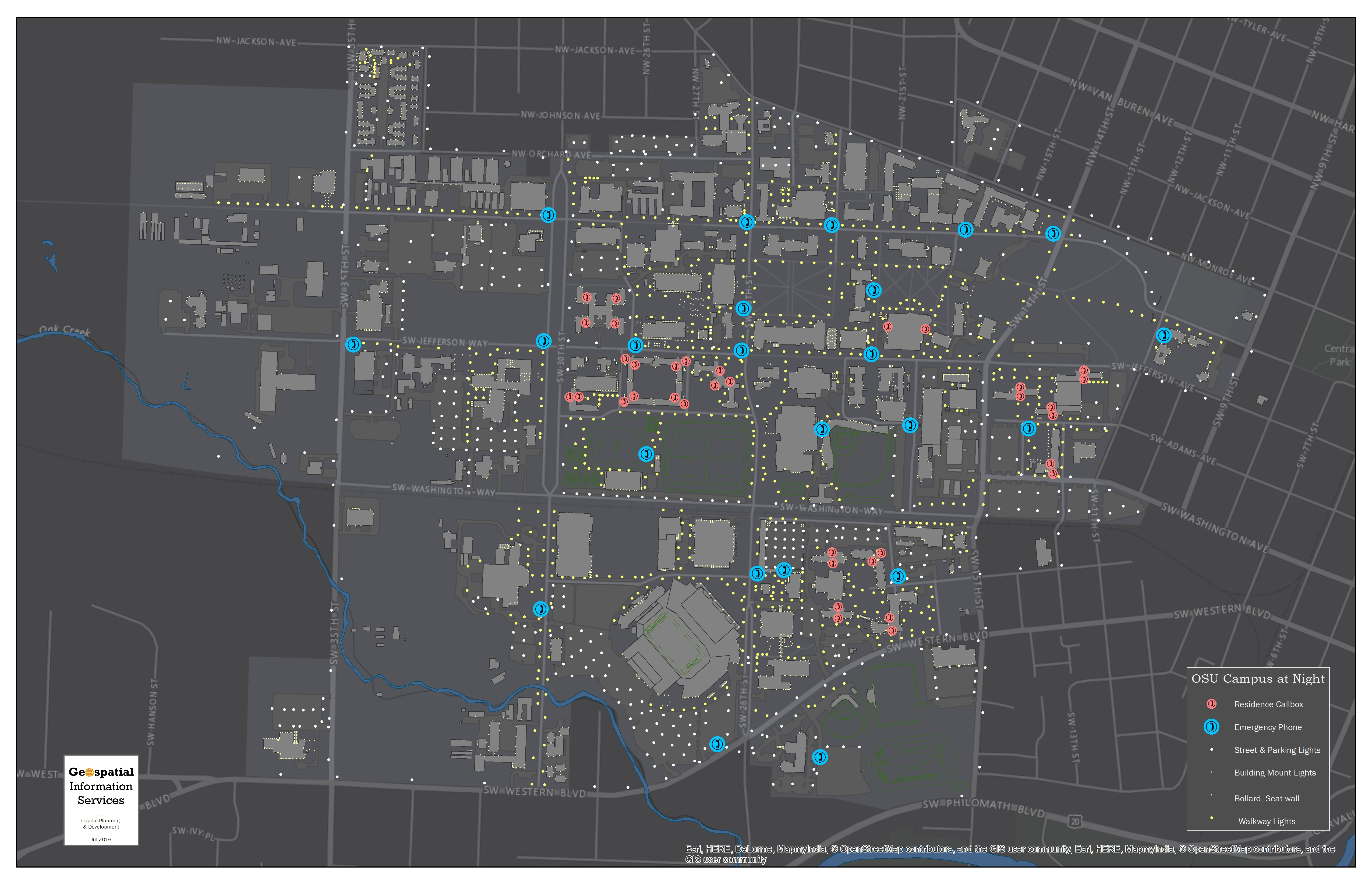 campus at Night map