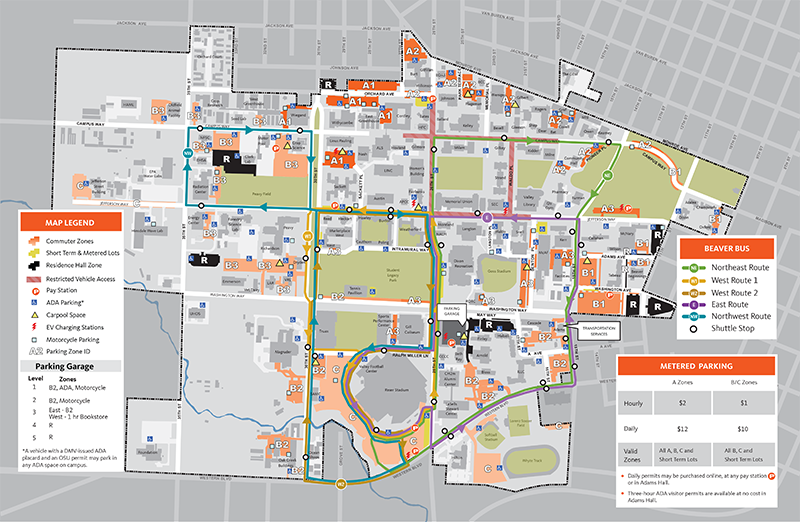 oregon state map Parking Map 800x600 Png Finance And Administration Oregon oregon state map
