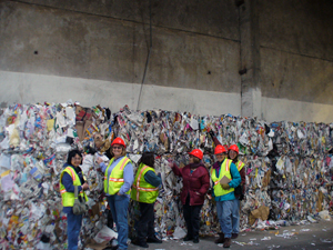 Master Recyclers at our recycling sorting facility