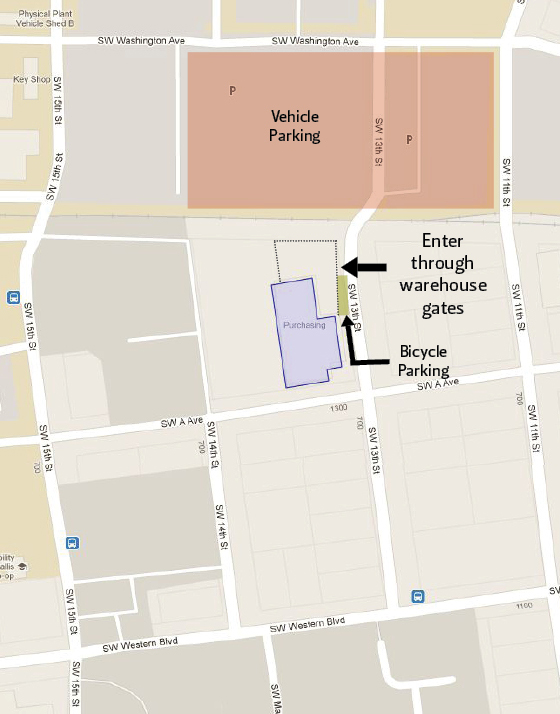 Map Of The Entrance And Parking Here