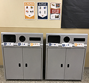 Photo of residence hall bins