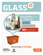 Glass recycling sign