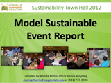 2012 Corvallis Sustainability Town Hall Model Event Report