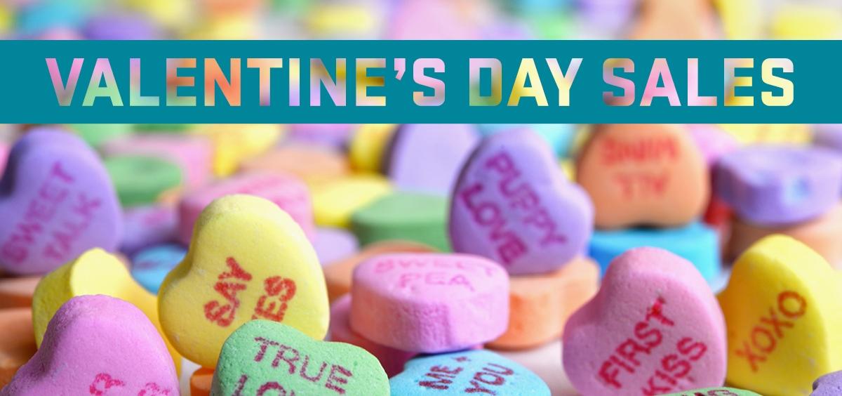 Valentine's heart candies