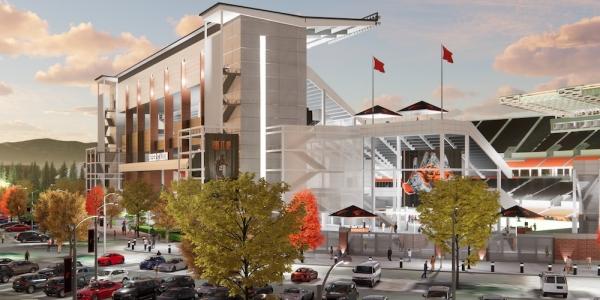 Reser Stadium west Grandstands rendering