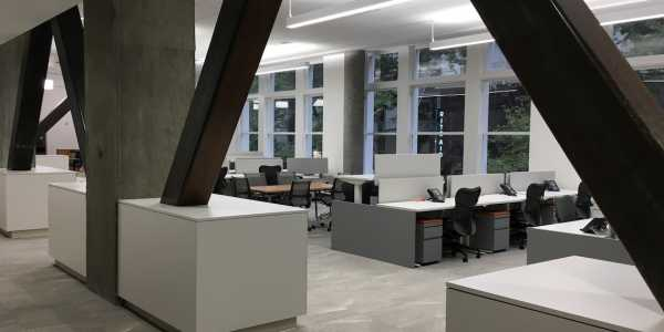 Open office spaces at OSU in Portland