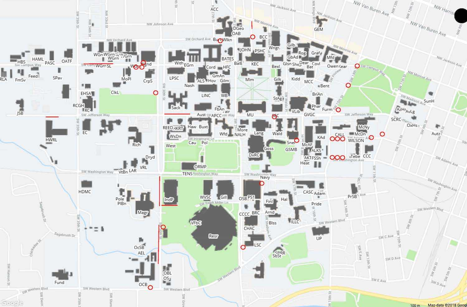 Path of travel updates across the Corvallis campus